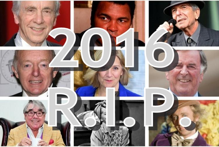 2016 Famous Deaths (Jan-Dec)