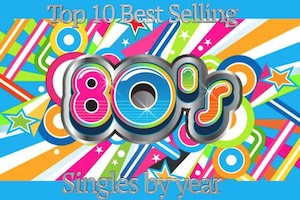 Top Selling 80s Hits by Year